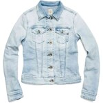 Replay Denim jacket with two flap breast pockets.