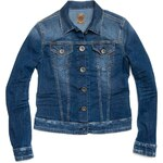 Replay Stretch denim jacket with two flap breast pockets.