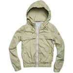 Replay Hooded full zip nylon jacket with elastic bottom, two front hidden pockets.
