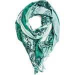 Replay Tie&dye paisley print viscose scarf with fringe edging.