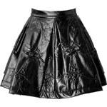 Kenzo Patterned Pleather Mini-Skirt