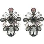 sweet deluxe BURGAS Ohrringe gunmetal/black diamond/crystal