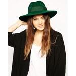 Catarzi Exclusive To ASOS Classic Fedora Hat - Green