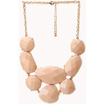 FOREVER21 Standout Faux Stone Bib Necklace