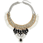 Topshop Black And White Stone Collar