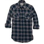 Replay Yarn-dyed cotton twill check shirt with two breast pockets.