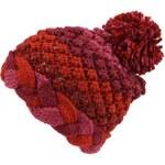 Pletená čepice Desigual Tricolor červenofialová