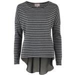 Neon Rose Stripe Top Black/Grey 10 (S)