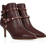 Valentino Leather Rockstud Ankle Boots