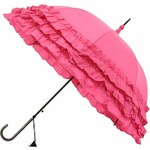 Růžový deštník Blooming Brollies Triple Frill