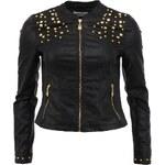 Černá bunda Vero Moda Countess z umělé kůže
