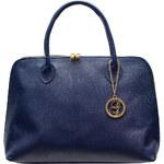 Glamorous by Glam Dámská kožená kabelka - tmavě modrá