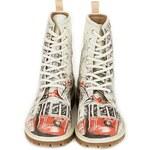 Dámské šněrovací kotníkové boty s potiskem tramvaje Dogo