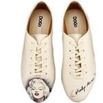Dámské krémové oxfordky Dogo s motivem Marilyn Monroe