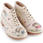 Dámské krémové kotníkové boty se zamilovanou dvojicí Dogo