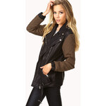 FOREVER21 Edgy Faux Leather Moto Jacket