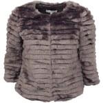 Šedofialový kabátek YAYA z umělé kožešiny