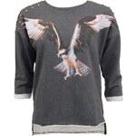 Tmavě šedá mikina Vero Moda Eagle s 3/4 rukávy
