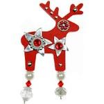 Větší brož Deers Silver Star