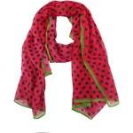 Růžový šátek Passigatti s puntíky