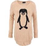 Dlouhý svetr s tučňákem AX Paris