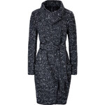 Donna Karan New York Wool-Blend Coat with Leather Piping