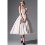 MiaBella Jemné společenské šaty v retro stylu Barva: jako na obrázku, Velikost: XS = konfekční velikost 34