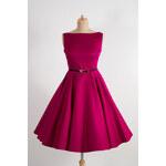 MiaBella SUSAN vínové retro šaty Barva: Barva jako na obrázku, Velikost: 38