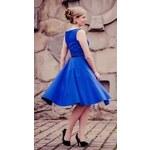 MiaBella SUSAN modré společenské retro šaty Barva: Barva jako na obrázku, Velikost: 38
