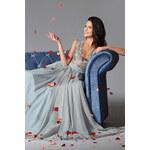 MiaBella Splývavé společenské šaty s krajkovým živůtkem Barva: jako na obrázku, Velikost: XS = konfekční velikost 34