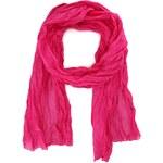 Dlouhý růžový hedvábno-bavlněný šátek Fraas
