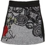 Mini sukně Desigual Passion v šedé barvě