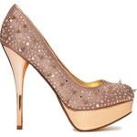 Blink Studded Heeled Shoe - Beige