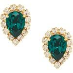 Krystal Swarovski Pear Rosetta Earrings - Green