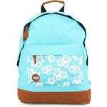 Světle modrý batoh Mi-Pac Aloha s květinami