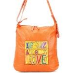Oranžová kabelka Betty Barclay s potiskem