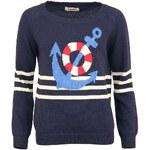 Modrý svetr s kotvou Louche Napoleon