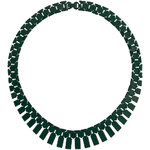 Topshop Green Metal Section Collar