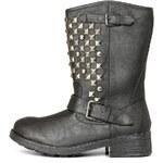 Černé boty Timeless s kovovými cvočky