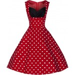 OPHELIA Red Polka - swingové retro šaty inspirované padesátými léty