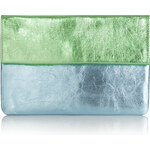 Topshop Two-Tone Metallic Leather Clutch