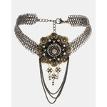 ASOS Vintage Style Filigree Flower Choker Necklace - Multi