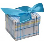 Rudorfer Dárková krabička na prsten Karo modrá 12600.D1