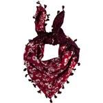 Pepe Jeans - Šátek Gluey - sytě červená, ONE - 200 Kč na první nákup za odběr newsletteru
