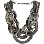 Topshop Plaited Mixed Chain Necklace