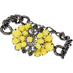 Topshop Yellow Flower Chain Bracelet