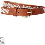 Promod 'Embroidered' leather belt