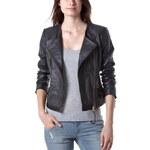 Promod Leather biker jacket