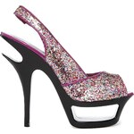 Sugarfree Shoes Sugarfree Emma Glitter Platform Heeled Shoes - Gold