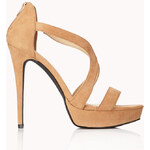 FOREVER21 Clear Cut Stiletto Sandals